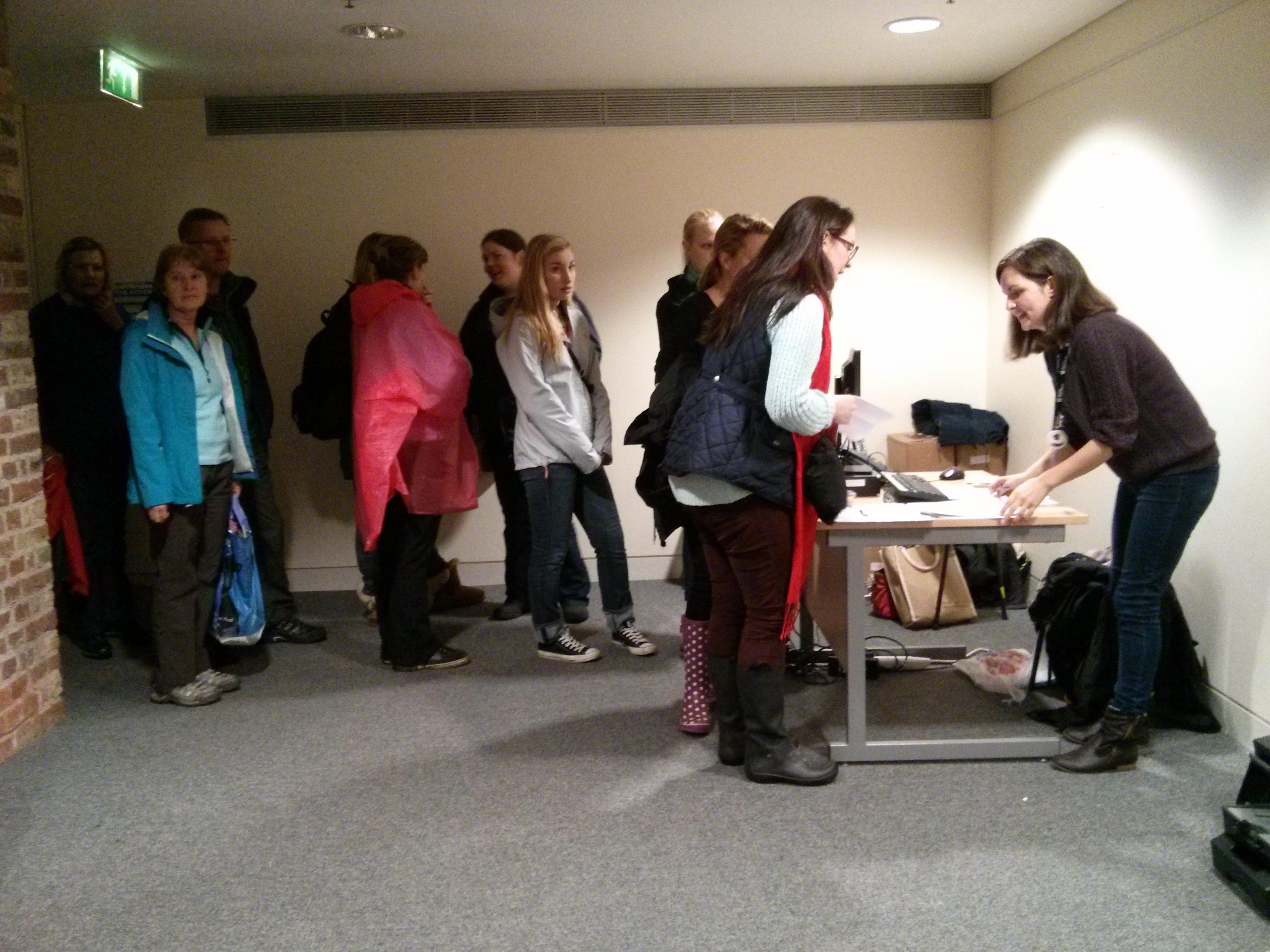 Tower poppies volunteering registration queue