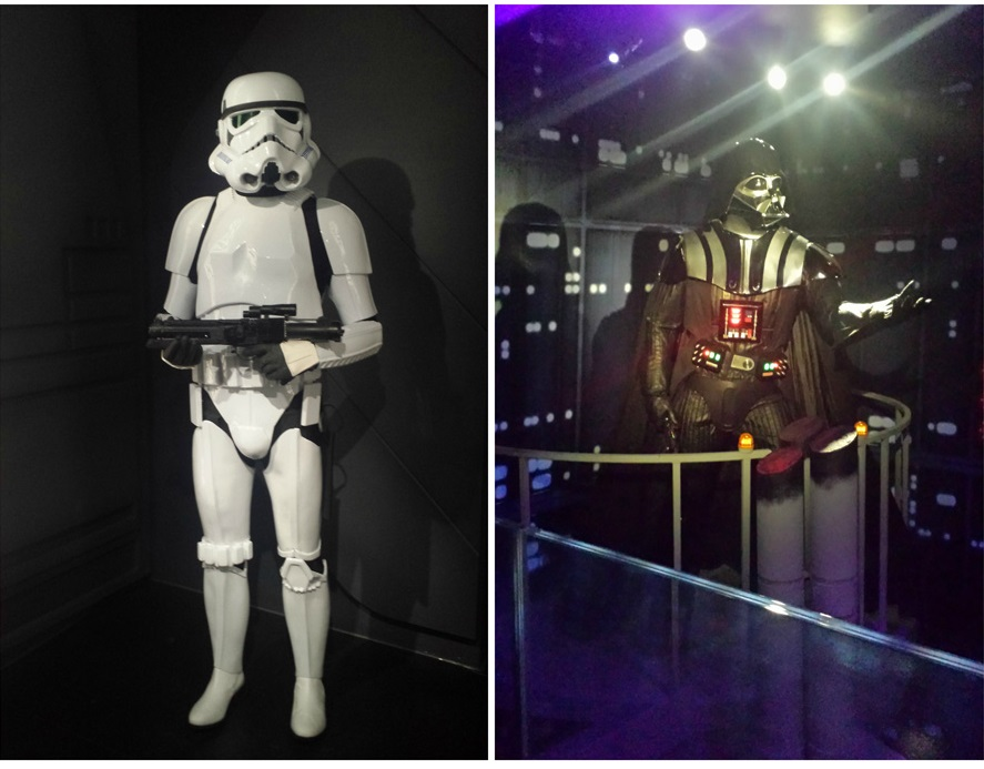 Darth Vadar and storm trooper at Madame Tussauds2