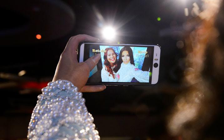 Kim Kardashian selfie at Madame Tussauds