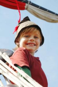 Boy dressed as Peter Pan at Disneyland Paris