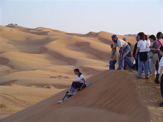 Sand Boarding in Dubai