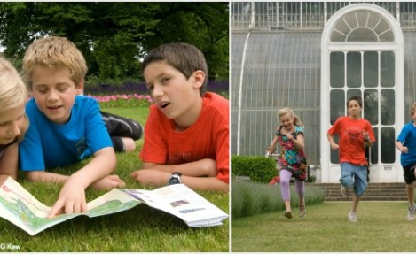 Kids enjoying Kew Gardens