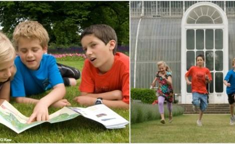 Kids enjoying Kew Gardens