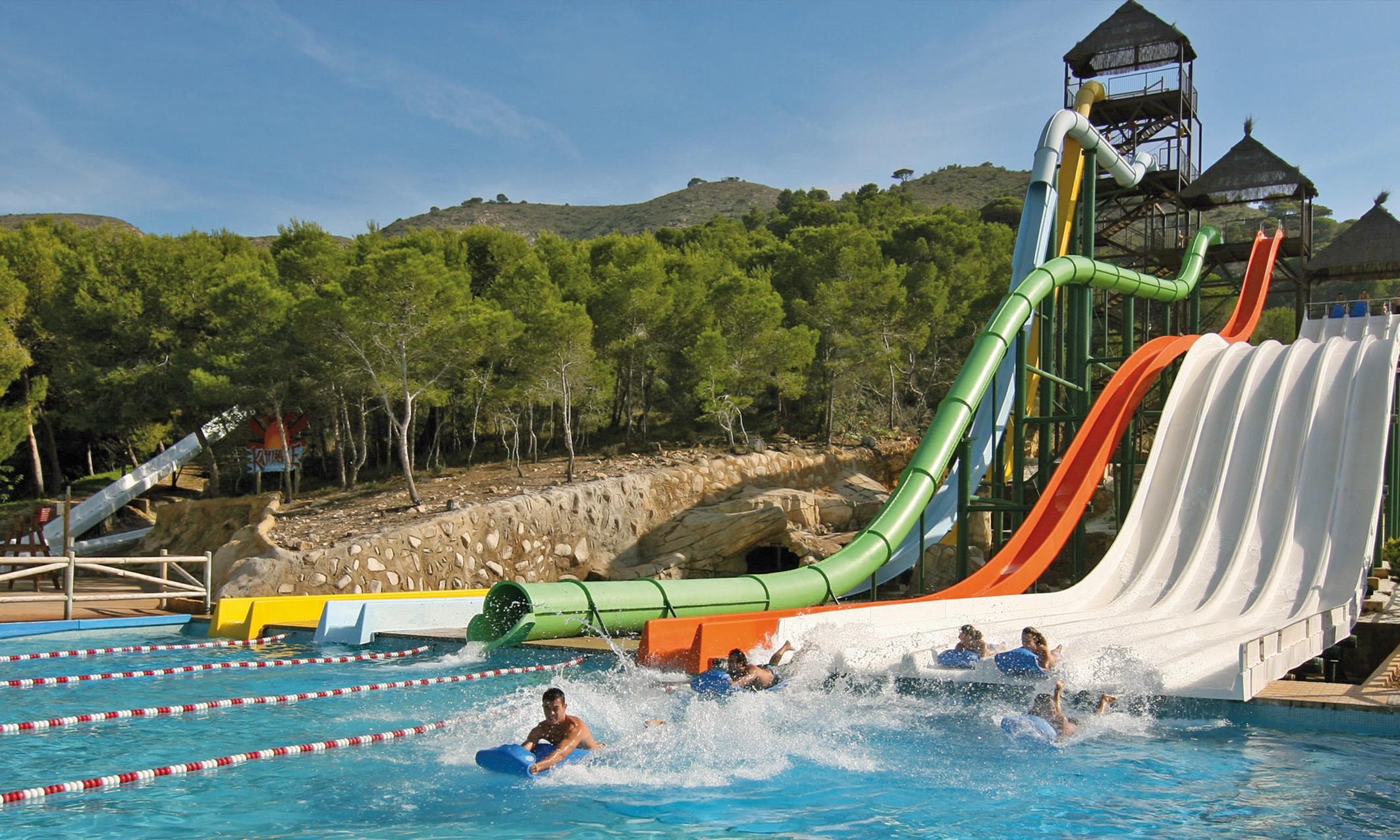 Slides at Aqualandia Benidorm