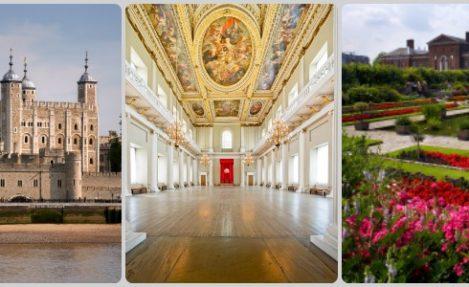 Tower of London, Banqueting House & Kensington Palace Gardens