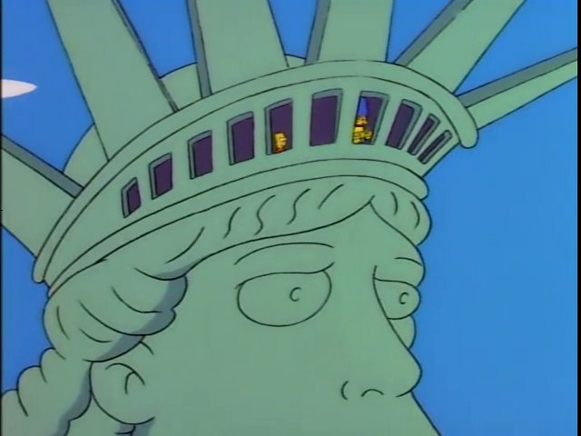 Simpsons - Statue Of Liberty