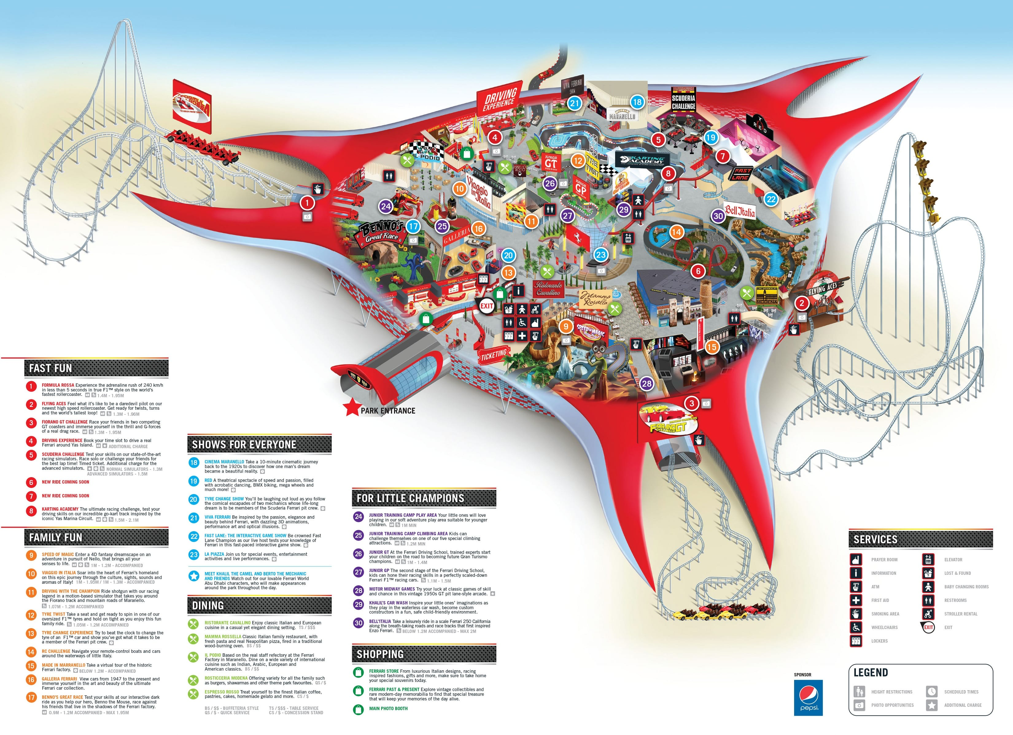 Ferrari world abu dhabi attractiontix click here to download the park map gumiabroncs Choice Image