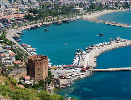 Alanya Bus Trip Side-  Alanya Castle And Harbour.
