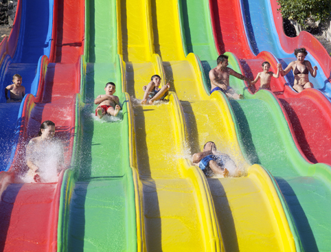 Racer Slides Water Park Costa Teguise Lanzarote