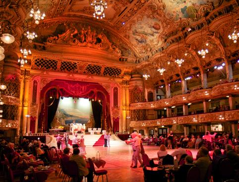 Dancing at Blackpool Tower Ballroom