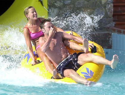 Bodrum Aqua Park- Couple On Waterslide