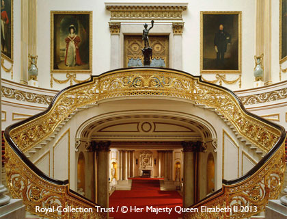 Buckingham Palace State Rooms Tour- The Grand Staircase