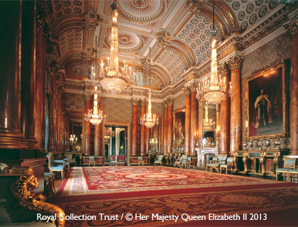 Buckingham Palace State Rooms Tour- The Blue Drawing Room