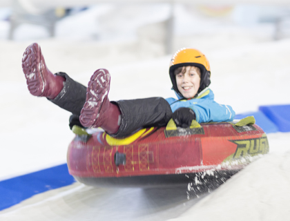 Child Snow Tubing at Manchester Chill Factore