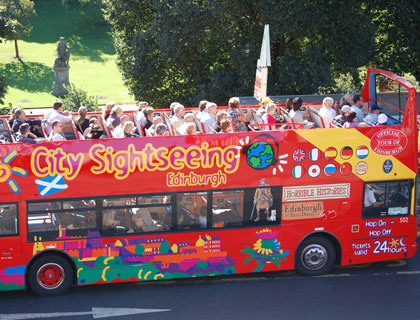 CitySightseeing Edinburgh- View Of The Top Of The Bus