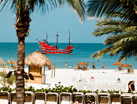 Pirate Ship In Clearwater Beach Fl
