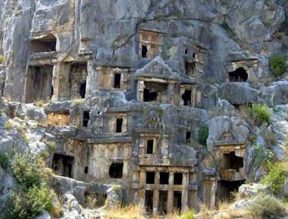 Demre Myra In Side- Lycian Tombs