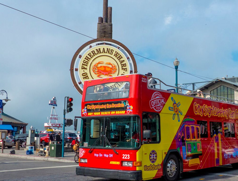 Double Decker All Loops Tour plus Alcatraz- Sightseeing Bus