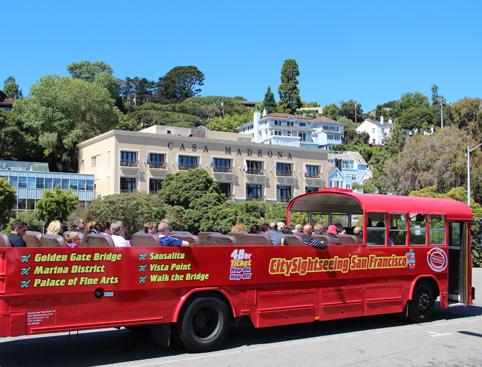 San Francisco Hop On Hop Off Sausalito Tour Attractiontix