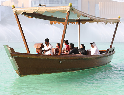 Dubai Fountain Lake Ride