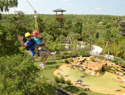 Gatorland-  Screamin Gator Zip Line