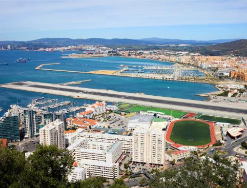 Birdseye view of Gibraltar