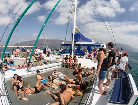 People on Catamaran Graciosa Island Tour Lanzarote