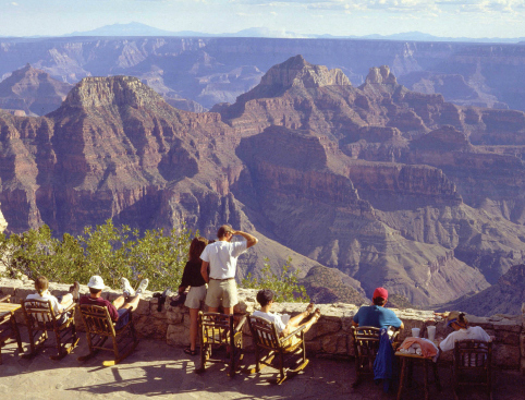 People checking out view Grand Canyon