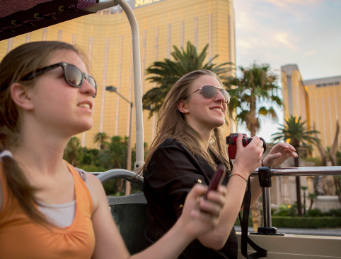 Open top bus tour Las Vegas