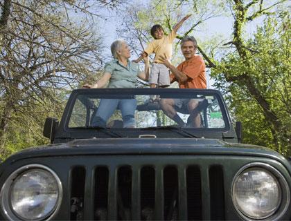 Jeep Safari Antalya- Jeep With Grandparents And Child