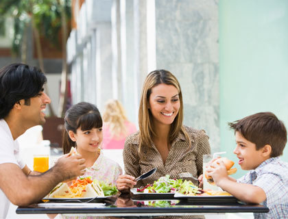 Kids Eat Free Orlando- Family Having Lunch