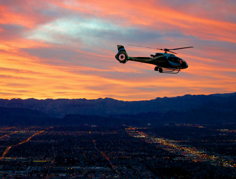 Helicopter Flight Las Vegas Night