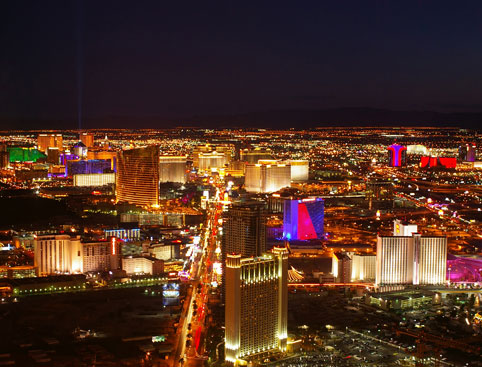 Las Vegas Strip Night by Helicopter Tour
