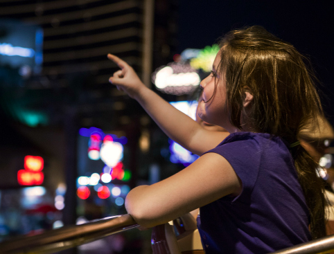 Girl on Las Vegas Night Tour