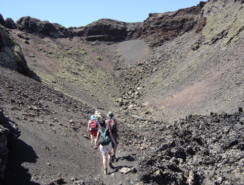 People Lanzarote trek