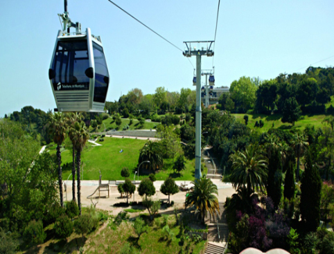 Cable car over Montjuic Barcelona Spain