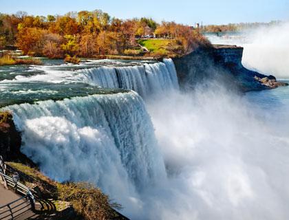 Niagara Falls, Toronto & 1000 Islands Tour- View Of The US Side Of The Niagara Falls