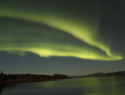 Northern Lights Green Sky Iceland - Boat Tour