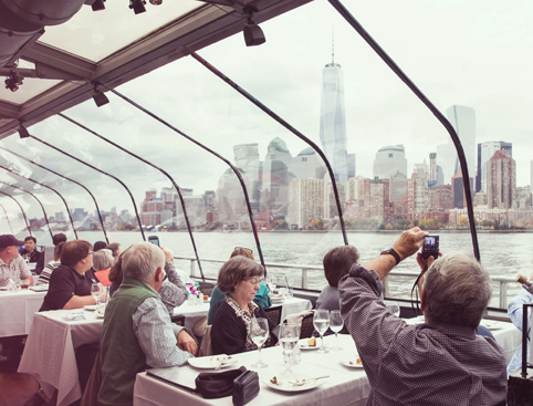view from bateaux new york cruise