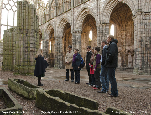 Palace of Holyroodhouse- Tour of Holyrood Abbey