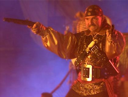 Pirates Dinner Adventure Orlando- Captain Sebastian The Black With Pistols