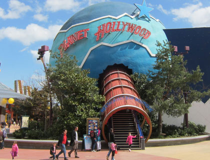 Planet Hollywood Meal Disneyland Resort Paris