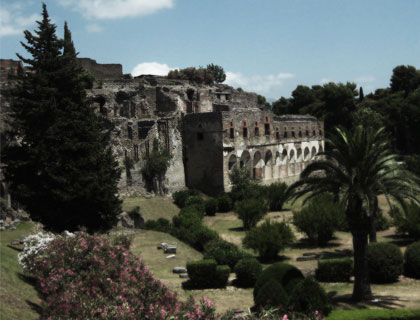 Pompeii and Vesuvius from Sorrento