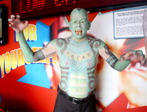 Ripley's Blackpool Green Lizard Man