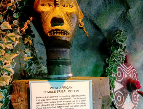 West African Female Tribal Coffin - Ripleys Blackpool