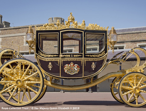 The Royal Mews at Buckingham Palace- The Diamond Jubilee State Coach
