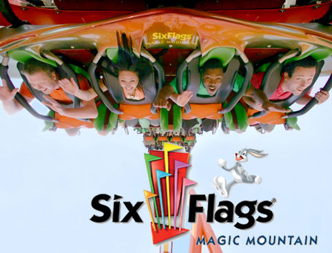 Six Flags Magic Mountain- Scream Rollercoaster