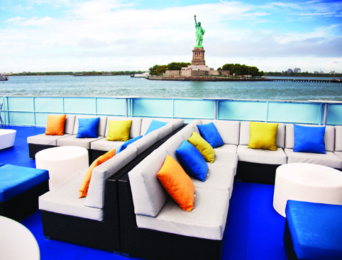 view of Statue of Liberty from Spirit Cruise