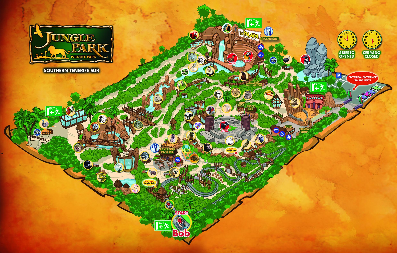 Las Aguilas Jungle Park Map