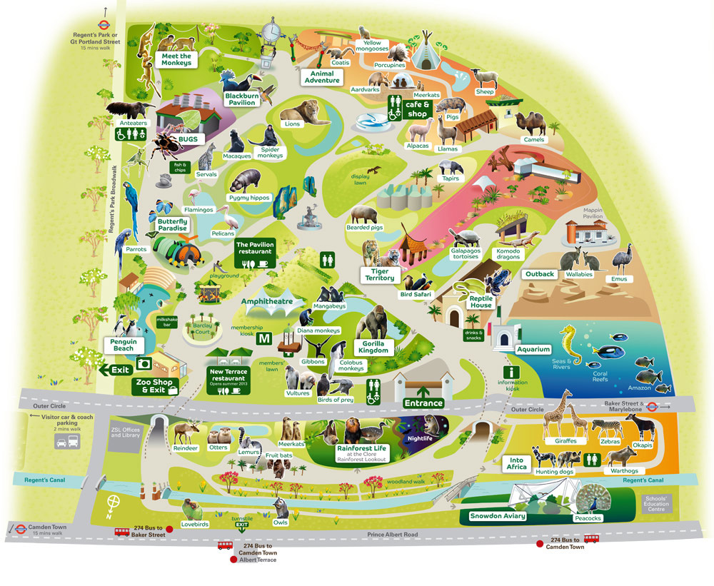 Map of London Zoo